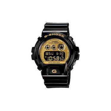 5bfcf7f485b Relógio Casio Masculino G-shock Digital Preto E Dourado Dw6900cb1ds