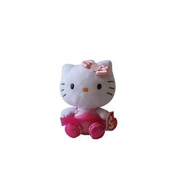 Imagem de Pelucia Hello Kitty Ty Beanie Babies 15Cm Bailarina Rosa