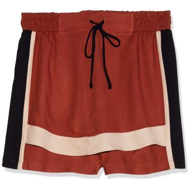 Triton Shorts Saia Feminino, P, Marrom