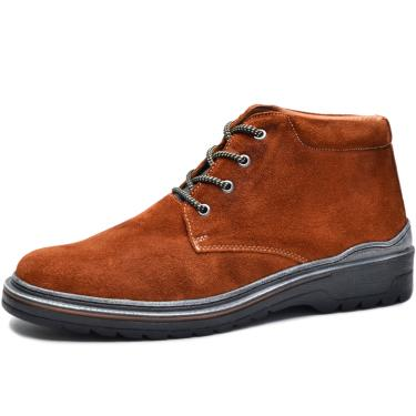 Bota Worker Over Boots Couro Camurça Ferrugem Urban  masculino