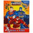 Livro Infantil - Dc Comics - Heróis E Vilões Com Mini Figuras - Melhoramentos